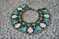 Trendy necklace made by Embera women in Colombia. #Necklace #Embera #Colombia Trendy Necklaces, Collar Necklace, Beads, Bracelets, Earrings, Jewelry, Women, Jewels, Necklaces