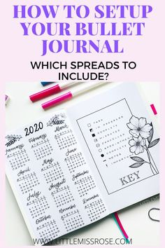 If you are a beginner when it comes to bullet journals you need to know which spreads to create to set up you first bullet journal. Here are the 5 most important spreads you need to include in you bullet journal setup.