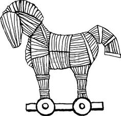 Trojan Horse, Greek History, Under My Skin, Greek Mythology, 7th Birthday, Horses, Drawings, Animals, Waldorf Education