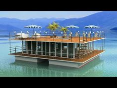 Floating Restaurant, Floating Hotel, Floating In Water, Boat Building, Building A House, Float Life, Barge Boat, Floating Architecture, Houseboat Living