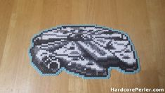 After making the X-Wing last week, I knew I had to make the Millennium Falcon Perler next. I love the way this one turned out. I added the light blue border to match the color of the thrusters, and to give it some definition. I'm going to try to find some more sample sprites…