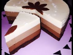 Tort trio ciocolată cu mousse fara oua - CristineCuisine - YouTube Sweet Tarts, Dessert Recipes, Desserts, Mousse, Food And Drink, Easy Meals, Sweets, Candy, Alex King