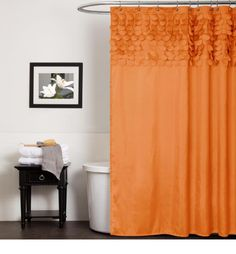extra long shower curtain orange - Best shower curtain ideas