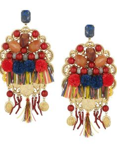 DIY: pendientes sicilianos multicolor de Dolce & Gabbana, must!!!!
