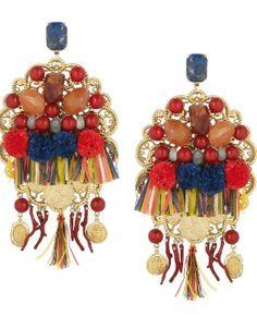 DIY: pendientes sicilianos multicolor de Dolce & Gabbana