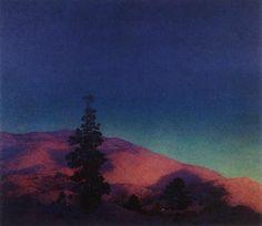 """winter twilight"" by maxfield parrish"