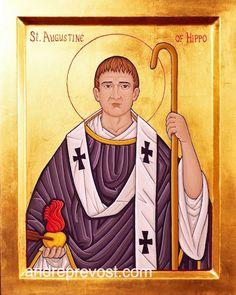 Icon of St. Augustin. Icon portfolio by Andre Prevost in the Victoria area