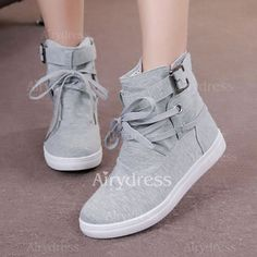 Shoes - $19.14 - Women's Boots Ankle Boots Low Heel Canvas Shoes (1625203864)