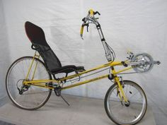P-38 LIGHTNING RECUMBANT BIKE BICYCLE YELLOW P38 SIT DOWN...ebay