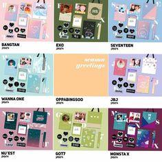 (SG/GO) oppabingsoo Season Greetings MONSTA X, SEVENTEEN, BTS, JBJ, NU'EST, GOT7, WANNA ONE, EXO, K-Wave on Carousell