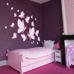 déco chambre fillette rose et mauve | décoration chambre fille ...