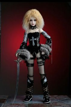 Gothic ball jointed doll