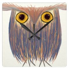 SOLD to a fabulous customer,  Lynn from Bellevue, NE!! ~The Odd Owl Square Wallclock