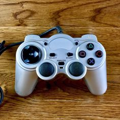 Playstation 2 Ps2 Gamewear Controller Silver With Turbo & Slow Function remote Playstation 2, Console, Remote, Amp, Silver, Roman Consul, Consoles, Pilot, Money