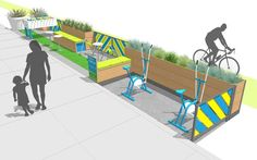 A buffet of ideas for slowing traffic through neighborhoods, including my favorite: parklets.  Also, intersections as art, and strategic tree planting to make drivers think they're speeding up.  Many great ideas for city planners and neighborhood advocates.