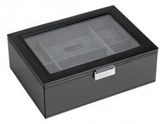 Get this amazing men's watch box at We Get Personal which can store up to 8 watches and is engraved on the glass lid.