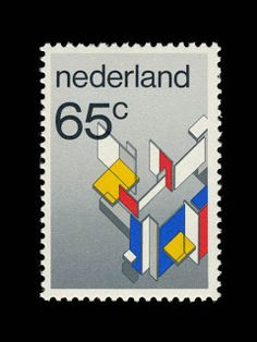 Wim Crouwel's postage stamp