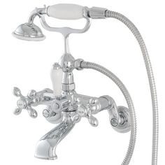 Shop American Bath Factory F90 Series Chrome 3-Handle Bathtub and Shower Faucet Trim Kit with Handheld Showerhead at Lowes.com