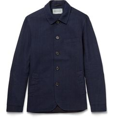 <a href='http://www.mrporter.com/mens/Designers/Oliver_Spencer'>Oliver Spencer</a>'s designs are named after London's most illustrious streets, districts and markets - this jacket pays homage to the famous Portobello Road in Notting Hill. Made in the UK, it's cut from durable indigo cotton-canvas and fully lined for a smooth fit. The array of handy pockets mean you can easily stash all your essentials.