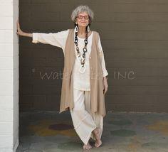 My style mid season Older Women Fashion, Over 50 Womens Fashion, Fashion Over 50, Women's Fashion Dresses, Boho Fashion, 2017 Colors, Gauze Clothing, Vintage Fashion Photography, Advanced Style