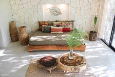 Tropical Interior, Tropical Home Decor, Tulum, Living Room Decor, Bedroom Decor, Cute Apartment, Tropical Bedrooms, Interior And Exterior, Interior Design