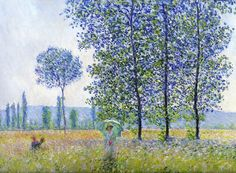 Fields of spring. Monet