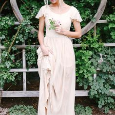 Silk chiffon wedding dress with flutter sleeves :) beautify modest