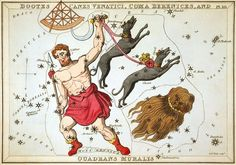 """Bootes, Canes Venatici, Coma Berenices, and Quadrans Muralis"", plate 10 in Urania's Mirror"