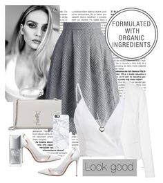 """""""Gris"""" by heyxime on Polyvore featuring Chicwish, MICHAEL Michael Kors, Yves Saint Laurent, Gianvito Rossi, Casetify, Pandora, Michael Kors y Christian Dior"""