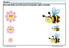 Fichas de opuestos en infantil: Grande - pequeño Sequencing Activities, Preschool Learning Activities, Visual Schedule Autism, Chinese Book, English Worksheets For Kids, Spring School, Bugs And Insects, Tree Crafts, Health
