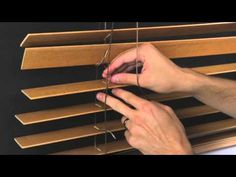 How to Restring a Horizontal Wood Blind - YouTube