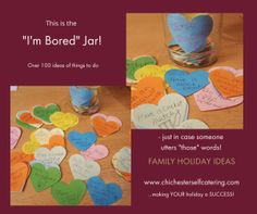 "I am bored - wails a small person... and your heart sinks! Well not when you visit Chichester Self catering - we have a brilliant ""I am Bored"" jar filled with over 100 ideas of things to do when you stay - for ALL the family! Find out more here http://www.chichesterselfcatering.com/?p=2193"