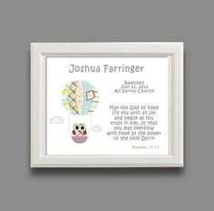 Baptism Gift  Christening Gift  Baby Boy by SnoodleBugs on Etsy, $15.00