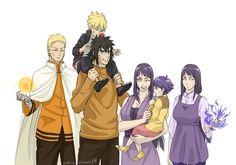 Menma and Hinata {Road to Ninja} as Parents. Hahaha, look at Naruto and real Hinata, they're not amazed. Anime Naruto, Naruto Comic, Naruto And Sasuke, Naruto Uzumaki, Naruto Funny, Naruto Art, Hinata Hyuga, Anime Manga, Gaara