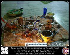 Rueda de la Medicina de Cristales en Curación Ritual. 23 de febrero de 2014.  Con Ana K. Yepes G. Guardiana de Nodo Casa Cristal Saraswati