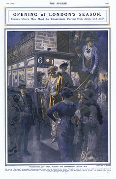Opening of London's Season 1914 (Print) art by The Sphere (Matania) at The Illustration Art Gallery