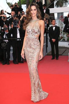 ffbbe02bf8f504 Alessandra Ambrosio Brings the Glamour in a Beautiful Beaded Gown - and  More Must-See Photos from Cannes! Oscar DressesNice DressesFormal ...