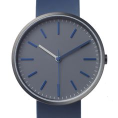 Uniform Wares 104 Series (blue/grey) watch by Uniform Wares. Available at Dezeen Watch Store: www.dezeenwatchstore.com