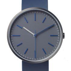 104 Series watch by Uniform Wares in blue/grey. Available at Dezeen Watch Store: www.dezeenwatchstore.com #watches