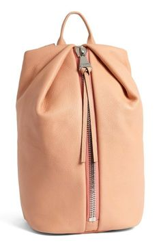 'Elda' Light Orange Italian Leather Backpack from The Handbag Maven