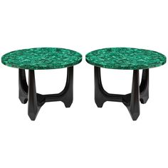 Pair of Side Tables in Malachite | From a unique collection of antique and modern side tables at https://www.1stdibs.com/furniture/tables/side-tables/