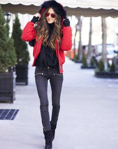How to Wear a Puffer Coat (Without Looking Like a Marshmallow) via @PureWow