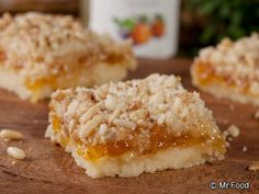 These yummy melt-in-your-mouth Apricot Crumb Bars are sure to make you feel like a star baker. Our easy from-scratch recipe takes no time to prepare but tastes like you fussed. (Butter Bars From Scratch) Easy Desserts, Delicious Desserts, Yummy Food, Finger Desserts, Summer Desserts, Cookie Recipes, Dessert Recipes, Bar Recipes, Gourmet
