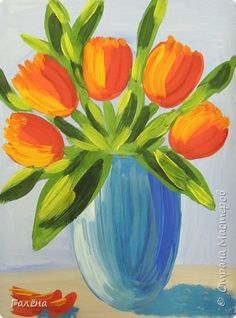 Тюльпаны маме.