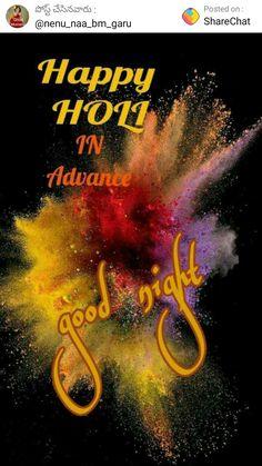Happy Holi In Advance, Good Night, Movie Posters, Movies, Nighty Night, Films, Film Poster, Cinema, Movie