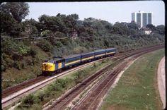 Description = VIA Rail FPA4 # 6780, Toronto Lakefront, August 1985  Film = Kodachrome 64  Exposure = Right on.  Location = Toronto, ON  Date = August 1985