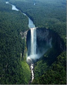 Kaieteur Falls (Guyana) [I've hiked up there to dangle my feet over the edge. I want my ashes spread here when I pass. ~sdh]
