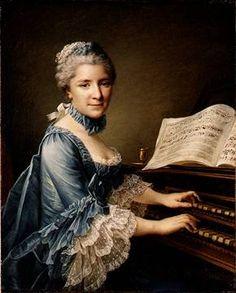 Marie-Justine-Avens Duronceray, Madame Favart (1727-1772), singer, dancer and comedian,  ca. 1757 by François-Hubert Drouais  (1727–1775)