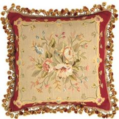 American Artisan handcrafted for a luxurious blossoming pillow.