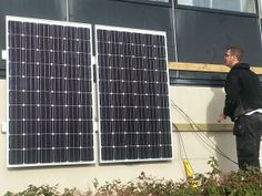 Excited to see dv8media client PulsiV's demo solar panels being installed on Tamar Science Park